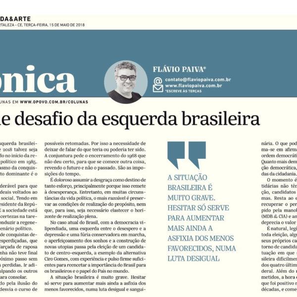 O grande desafio da esquerda brasileira