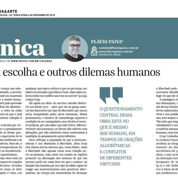 O mal da escolha e outros dilemas humanos